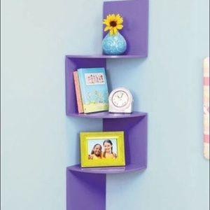 Purple Corner Shelf